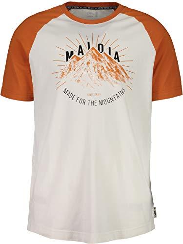 Maloja Herren 27507.0 T-Shirt, Orange (firelily 8218), M (Größe Hersteller:M)