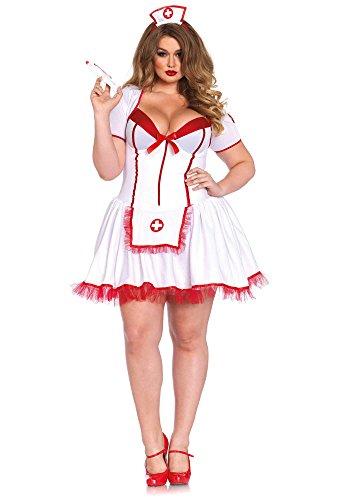 Leg Avenue 85483X - Curvy Krankenschwester Kostüm, Größe 3X-4X (EUR (Größe Krankenschwester Kostüme Sexy Plus)