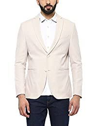 blackberrys Mens Notched Lapel Slub Blazer_ Beige (203599985_9111)