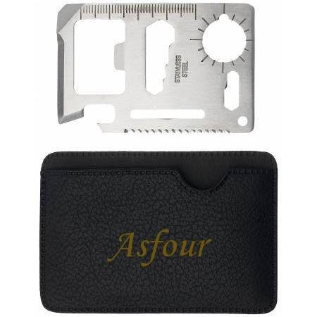 Preisvergleich Produktbild Mehrzweckwerkzeug mit gravierten Halter mit Namen: Asfour (Vorname/Zuname/Spitzname)