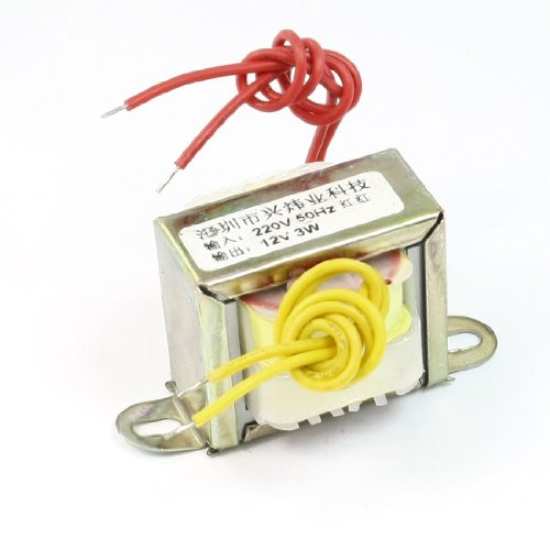 sourcingmap® 220V 50Hz Eingang auf 12V 3W Output EI Core Single Phase Power - Transformer Power