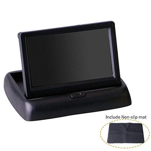 4,3 Zoll Universal-gps (FORYOURS Tragbarer DVD-Player Auto Kopfstütze Monitor, Navigationsgerät, GPS Navigation, 4,3 Zoll Auto Display, Auto Universal Folding Visuelle Rückfahrkamera AV Video)