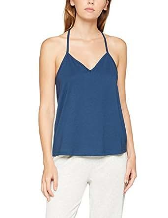 Iris & Lilly Women's Lace Racerback Pyjama Top, Blue (Insignia Blue), X-Small