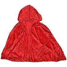 DELEY Niñas caperucita Roja de Terciopelo Capa de Disfraces Cosplay Cabo Traje Accesorio