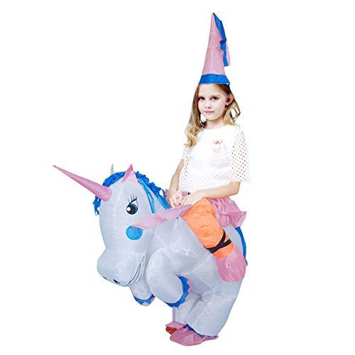 Egosy Aufblasbares Einhorn Kostüm für, Einhorn Kostüm Aufblasbare Anzug Halloween Cosplay Fantasy Kostüme ()