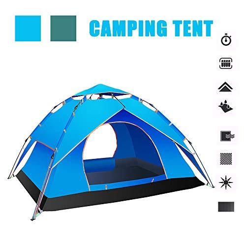 DDSGG Pop Up Zelt, Automatisches Outdoor-Zelt Für 2-3 Personen Schnellöffnungs Wurfzelt Camping Pop-Up Zelt,Blau