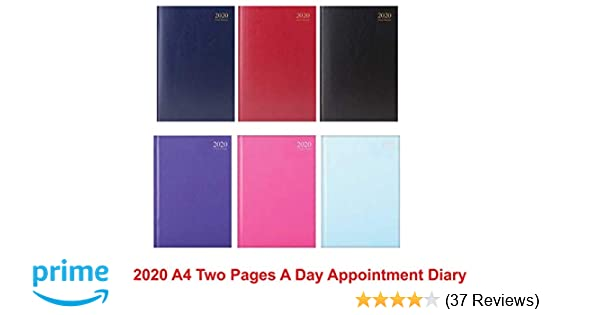 2017 two 2 full pages per day black diary hard back for office  hotel  Business