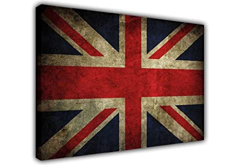 CANVAS WALL ART RUSTIC UNION JACK FLAG PRINTS PICTURE PRINT PICTURE ROOM DECORATION PICTURES PHOTOS CANVASES