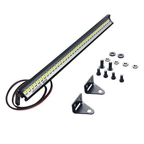 Wokee Multifunktions Ultra helle LED Lampe für Traxxas TRX-4 SCX10 Crawler-1/10 Crawler Zubehör Dach LED Lampe Bar LED Lichtleiste, Dach-Lampe für 1/10 RC Crawler Truck Zubehör