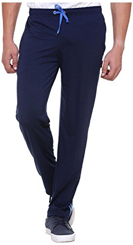 Free Runner Men's Cotton Track Pants (SB1217-M_Navy blue)