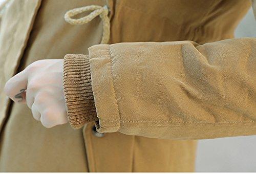 WTUS Manteau Avec Capuche Pour Femmes Plus épaississement Du Velours Kaki