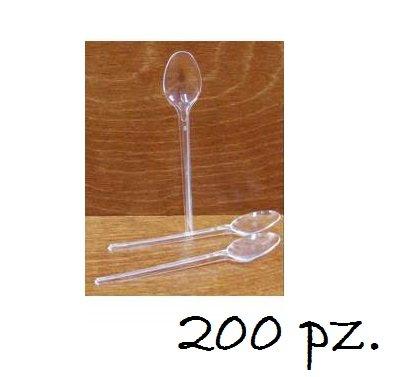 IRPot - 200 MINI CUCCHIAINI TRASPARENTI IN PLASTICA 6772