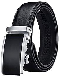 Satyam Kraft Men's PU Leather Piece of 1 Adjustable Buckle Belts (Black)