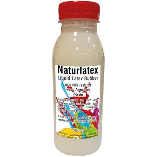 Flüssiglatex 500 ml Latexmilch, naturfarben, Naturgummi flüssig, Latex, Gummimilch, Sockenstopp liquid latex