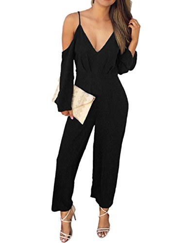 Lrud Sexy Damen Bodycon Lange Overall Ärmellos Abend Party Hohe Taille Strampler Playsuit Jumpsuit