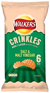 Walkers Crinkles Salt and Malt Vinegar Crisps 6 x 28 g (Pack of 16) (B004VRH4W0) | Amazon price tracker / tracking, Amazon price history charts, Amazon price watches, Amazon price drop alerts