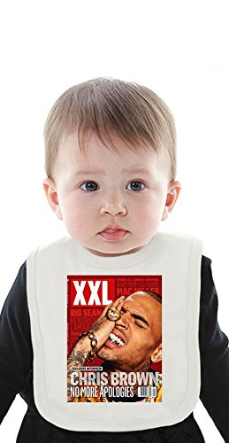 Chris Brown XXL No More Apologies Organic Baby Bib With Ties Medium - Lil Xxl Wayne