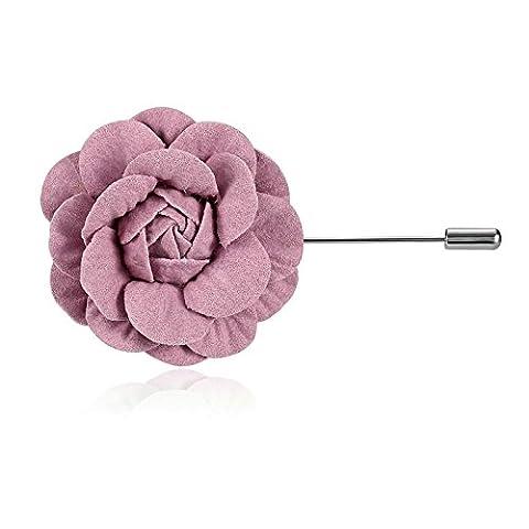 Adisaer Damen Brosche Edelstahl Rosa Revers Ansteckblume Handgefertigt Broschen Frau Kleider Pin Party Geschenk