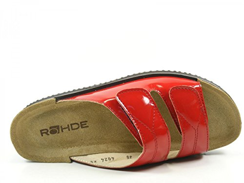 Rohde Soltau 1943 Mules femme Rouge
