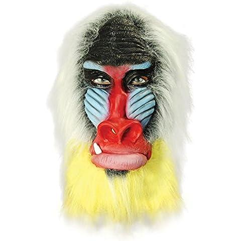 Deluxe scimmia babbuino adulto maschera