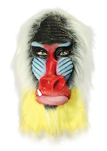 Deluxe Affe Erwachsene Pavian Maske (Pavian Maske)