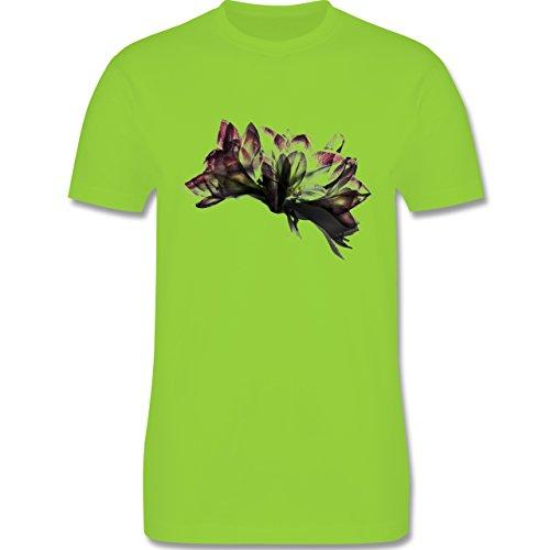 Blumen & Pflanzen - Orchidee Timelapse - Herren Premium T-Shirt Hellgrün