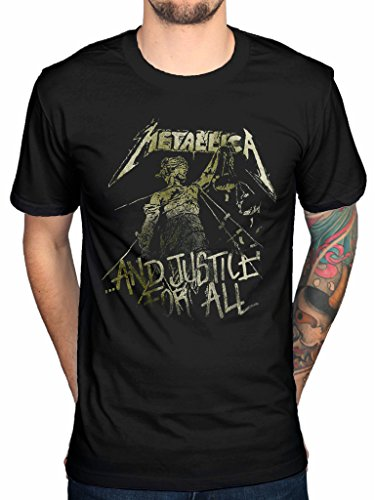 Official Metallica Vintage Justice T-Shirt Band Heavy Metal James Hetfield Death Magnetic