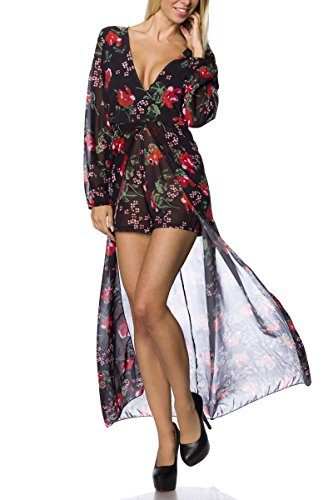 Angies Glamour Fashion - Robe - Femme Noir/rouge