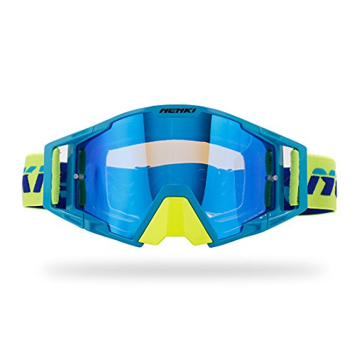 NENKI MX Goggles NK-1025 Motocross Goggle Männer / Frauen (Blau Gelb) (Gear Frauen Motocross)