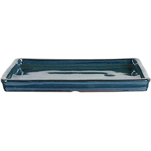 Bonsai Untersetzer 25x20x2cm Blaugrün Rechteckig
