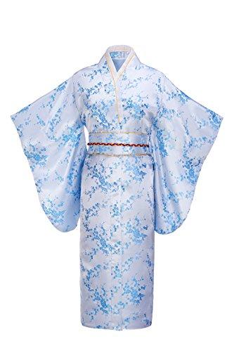 Joy Bridalc Damen-Kimono-Kostüm aus japanischem Brokat - blau - Einheitsgröße (Brocade-kleid-frauen)