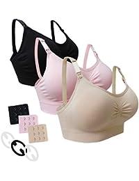 Desirelove Still-BHS Schwangerschafts BH 1 und 3 Pack Nahtlose BHS Mit Abnehmbaren Polster Aus Prävention