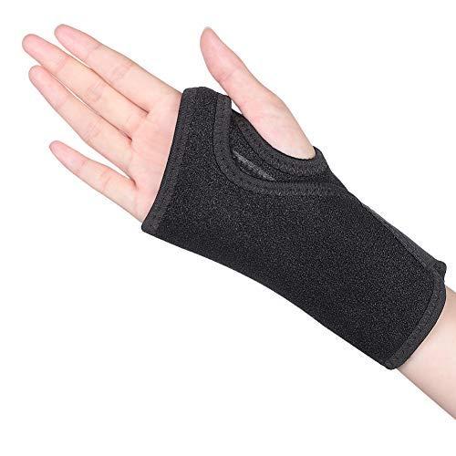 Handgelenkbandage Sehnenscheidenentzündung Handgelenkschiene Karpaltunnelsyndrom Schiene Handgelenkstütze leder Handgelenkschoner mit abnehmbarer Schiene Stabilisator für Schmerzlinderung-Recht