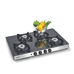 Glen Glass 4 Burner Gas Stove, Black (GL1048GTAUTO)