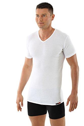 ALBERT KREUZ V-Unterhemd Business Herrenunterhemd aus 100% Bio-Baumwolle Kurzarm weiß 7/XL (Unterwäsche Kurze Bio-baumwolle)