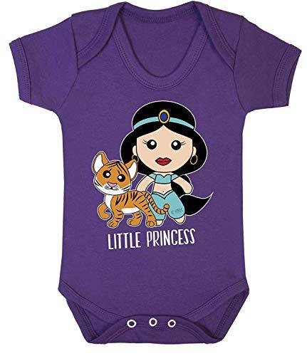Jasmin Kostüm Prinzessin Lila - Aladdin Prinzessin Jasmin Cool Aufdruck Bodys Kostüm Hypoallergen 100% Cotton - Lila, Newborn