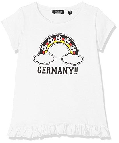 Blue Seven Mädchen T-Shirt Rundhals, Weiß (Germany 0001), 128