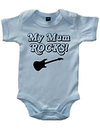 Edward Sinclair My Mum Rocks. Azul pálido (Perlado impresión en Negro) Body