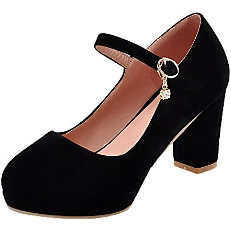Moolarmi Femme Boucle Rond agrave; Talon Haut Haut Haut Su eacute;d eacute; Chaussures L eacute;geres - B07GF4R2D9 - eed573