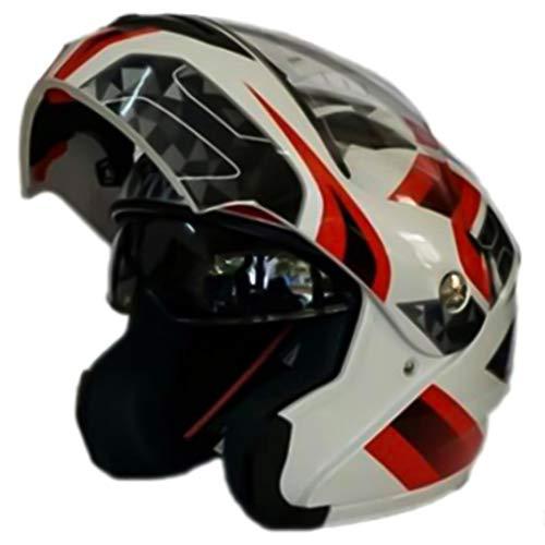 OLEEKA Casco moto Flip Up Casco moto modulare con visiera parasole interna Casco integrale con doppia visiera di sicurezz