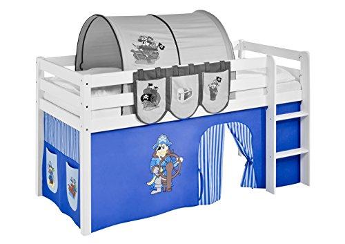 Vorhang Pirat Blau - für Hochbett, Spielbett und Etagenbett