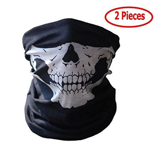 Máscara de tela con dibujo de calavera, para moto, deporte,...
