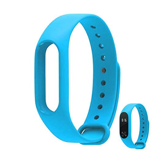 m-fit Wristband Strap for Fitness Band M2 Smart Bracelet Strap for M2 Band 2 HRX (Xiaomi Mi Band 2) Blue