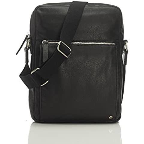 Marshall Bergman Adam - Bolso de cuero para tablet, color negro