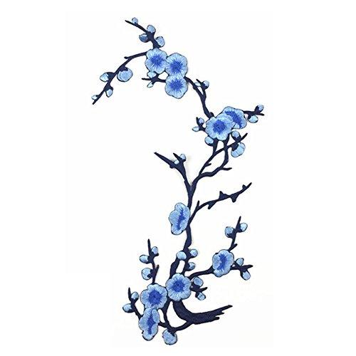 Naisidier Elegant Eisen Stickerei Kreis Blume Applikationen Patches Heimwerker Handwerk Kleider Jeans Kleidung Taschen Cheongsam Aufnäher