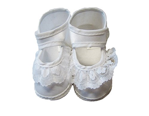 Taufschuhe Weiß Babyschuhe Baby Taufe Geschenk für Jungen oder Mädchen gr. 16-17-18 Neu Sohle: 10,5 cm Mädchen 2