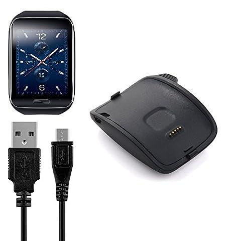 BlueBeach® Remplacement de chargement Chargeur USB câble pour Samsung Gear S R750
