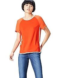 Marque Amazon - find. T-Shirt Col Ras du Cou  Femme