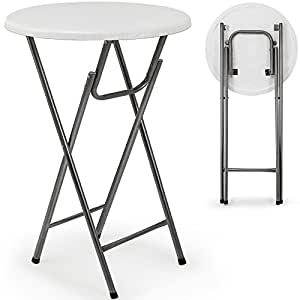 Table haute pliable table de bar bistrot pliante en mdf - Amazon table de bar ...