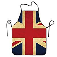 artyly Unisex Men&Women British UK Flag Chef&Cook hen Bib Apron Waterproof Perfect For Cooking,Baking,Crafting,BBQ